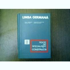 Limba germana texte de specialitate constructii vol. II - Mihai Isbasescu, Charlotte Gutmeyer