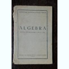 MANUAL ALGEBRA PT CLASELE VI -A / VII- A -MINISTERUL INVATAMANTULUI PUBLIC