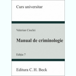 MANUAL DE CRIMINOLOGIE - VALERIAN CIOCLEI