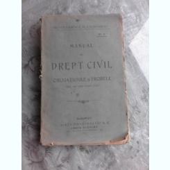 MANUAL DE DREPT CIVIL, OBLIGATIUNILE SI PROBELE, ANUL II