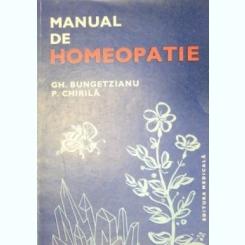 MANUAL DE HOMEOPATIE-GH. BUNGETZIANU,S. CHIRILA 1983