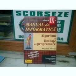Manual de informatica Algoritmi si limbaje de programare - Bogdan Patrut