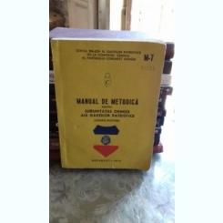 MANUAL DE METODICA PENTRU SUBUNITATILE CHIMICE ALE GARZILOR PATRIOTICE