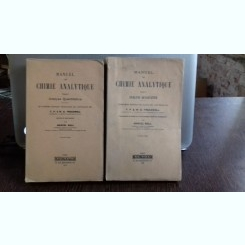 MANUEL DE CHIMIE ANALYTIQUE - MARCEL BOLL  2 VOLUME (MANUAL DE CHIMIE ANALITICA)
