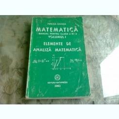 MATEMATICA. MANUAL PENTRU CLASA A XI-A - MIRCEA GANGA  VOLUMUL1