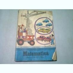 MATEMATICA MANUAL PENTRU CLASA I - GH. HERESCU, V. MOTRESCU, V. STEFANESCU  (1982)