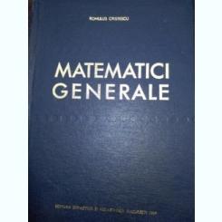 Matematici Generale - Romulus Cristescu
