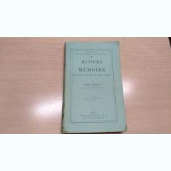 MATIERE ET MEMOIRE-HENRI BERGSON
