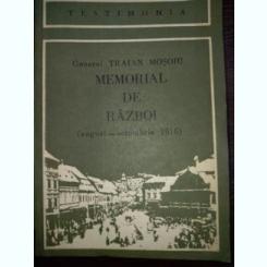 Memorial de razboi -Traian Mosoiu -