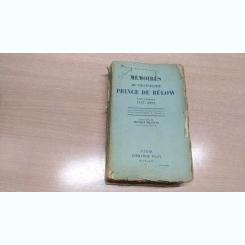MEMORIES DU CHANCELIER-PRINCE DE BULOW-VOL1,2-HENRI BLOCK