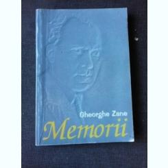 MEMORII - GHEORGHE ZANE
