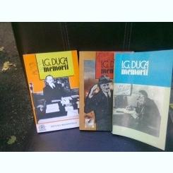 MEMORII - I.G. DUCA   3 VOLUME
