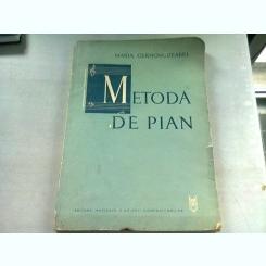 METODA DE PIAN - MARIA CERNOVODEANU