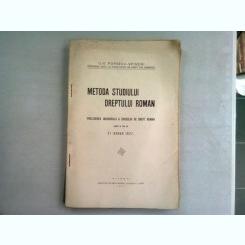 METODA STUDIULUI DREPTULUI ROMAN - ILIE POPESCU SPINENI