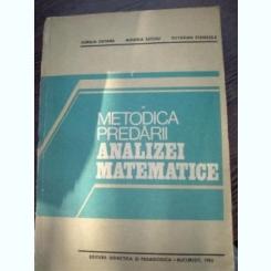 Metodica predarii analizei matematice- Catana