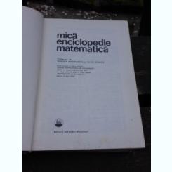 MICA ENCICLOPEDIE DE MATEMATICA