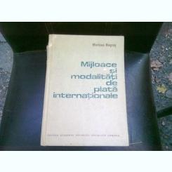 MIJLOACE SI MODALITATI DE PLATA INTERNATIONALE - MARIANA NEGRUS