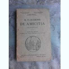 M.T.CICERONIS DE AMICITIA DIALOGUS-CLASA A-VI-A-IULIU VALAORI- CEZAR PAPACOSTEA