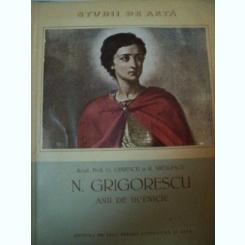N.GRIGORESCU, ANII DE UCENICIE-ACAD.PROF.G.OPRESCU SI R.NICULESCU,1956