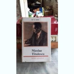 NICOLAE TITULESCU - ION M. OPREA