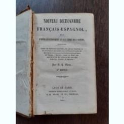 NOUVEAU DICTIONNAIRE FRANCAIS-ESPAGNOL - S.G. BLANC