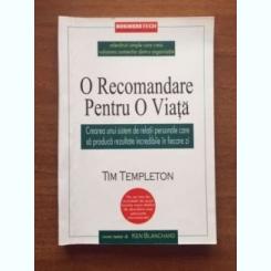 O RECOMANDARE PENTRU O VIATA TIM TEMPLETON