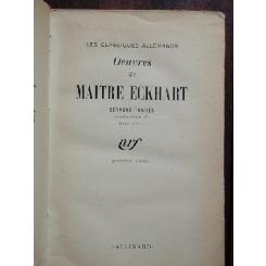 OEUVRES DE MAITRE ECKHART - SERMONS TRAITES (LUCRARI ALE MAESTRULUI ECKHART)