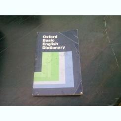 OXFORD BASIC ENGLISH DICTIONARY - SHIRLEY BURRIDGE