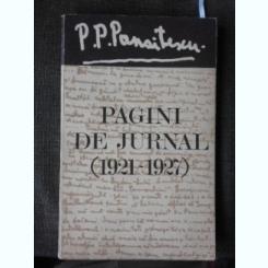 PAGINI DE JURNAL (1921-1927) - P.P. PANAITESCU