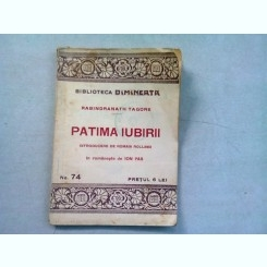 PATIMA IUBIRII - RABINDRANATH TAGORE