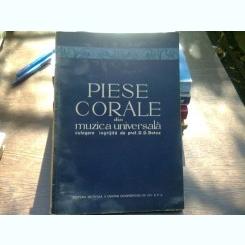 Piese corale din muzica universala - D.D. Botez  (partituri)