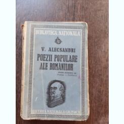 POEZII POPULARE ALE ROMANILOR - V. ALECSANDRI