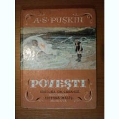 POVESTI de A. S. PUSKIN , ilustrator IV. BRUNI , in romaneste de ADRIAN MANIU
