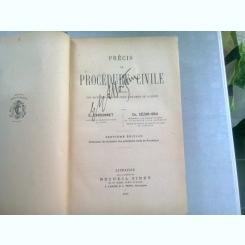 PRECIS DE PROCEDURE CIVILE - E. GARSONNET