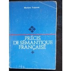 PRECIS DE SEMNTIQUE FRANCAISE - MARIANA TUTESCU