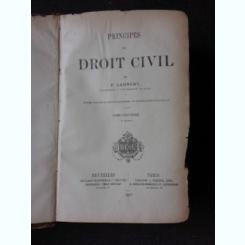 PRINCIPES DE DROIT CIVIL - F. LAURENT VOL. 9 (CARTE IN LIMBA FRANCEZA)