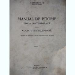 REMUS ILIE--MANUAL DE ISTORIE - epoca contermporana