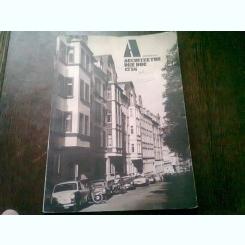 REVISTA ARCHITEKTUR DER DDR NR.12/86 (REVISTA DE ARHITECTURA, TEXT IN LIMBA GERMANA)