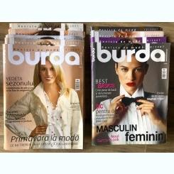 Revista Burda 10 numere din anul 2007 cu tipare