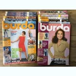 Revista Burda 11 numere din anul 2000 cu tipare