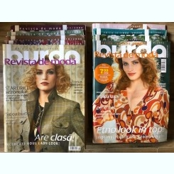 Revista Burda 2006,9 numere cu tipare