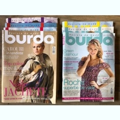 Revista Burda 7 numere din anul 2009 cu tipare