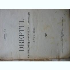 Revista Dreptul, anul LI, 1923