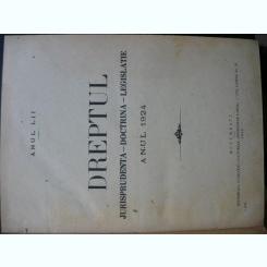 Revista Dreptul, anul LII, 1924