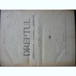 Revista Dreptul, anul LVI, 1928