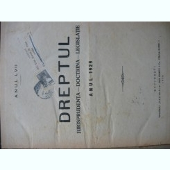 Revista Dreptul, anul LVII, 1929