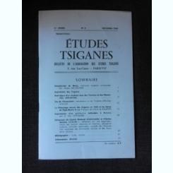 Revista Etudes tsiganes, bulletin de l'association des etude tsiganes nr.4/1965  (text in limba franceza)