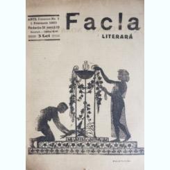 REVISTA FACLA LITERARA NR.1/1923