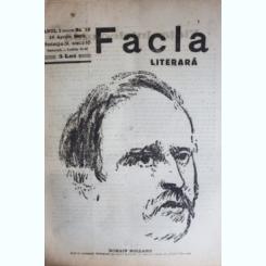 REVISTA FACLA LITERARA NR.12/1923
