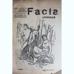 REVISTA FACLA LITERARA NR.13/1923